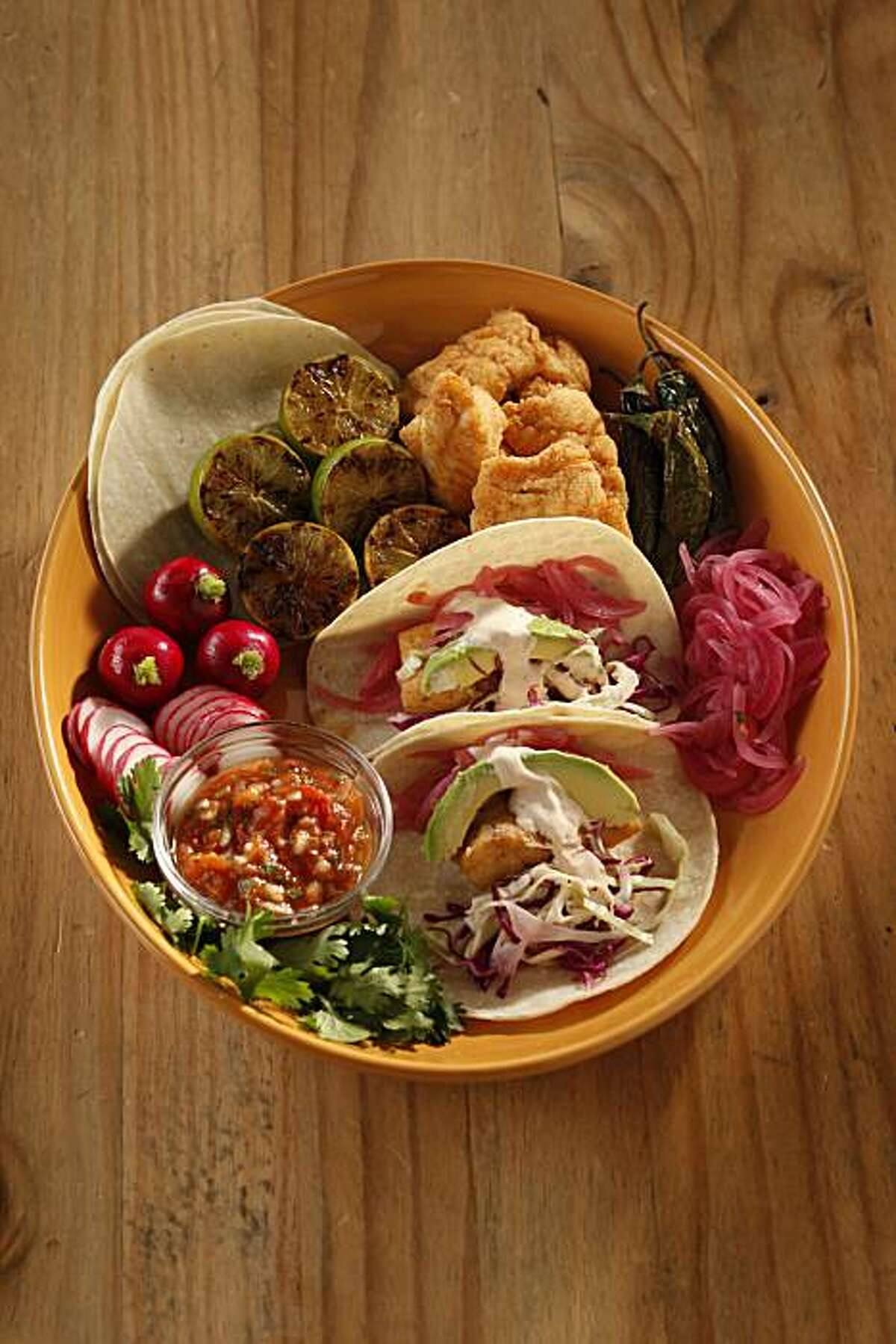 Dish Tacos in San Francisco, Calif., on July 14, 2010. Food styled by Natalie Knight.