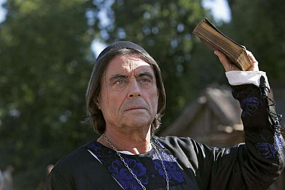 Ian McShane (Waleran) in The Pillars of the Earth. Photo: Egon Endrenyi, Starz Original