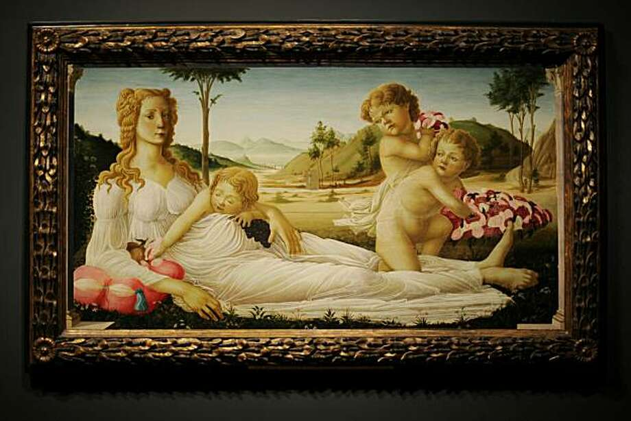 'An Allegory', a painting believed to have been created by Italian artist Sandro Botticelli, and bought by the National Gallery for 1,627 GBP in 1874, is pictured in the National Gallery in London on June 28, 2010. The painting, one of two that were believed to have been painted by Bottocelli, and purchased in the same year, has since been revealed as a fake. The other, 'Venus and Mars' which was bought for 1,050 GBP, was confirmed as an original Botticelli.  Both works form part of the 'Close Examination: Fakes, Mistakes and Discoveries' exhibition, which runs until September 12. Photo: Ben Stansall, AFP/Getty Images