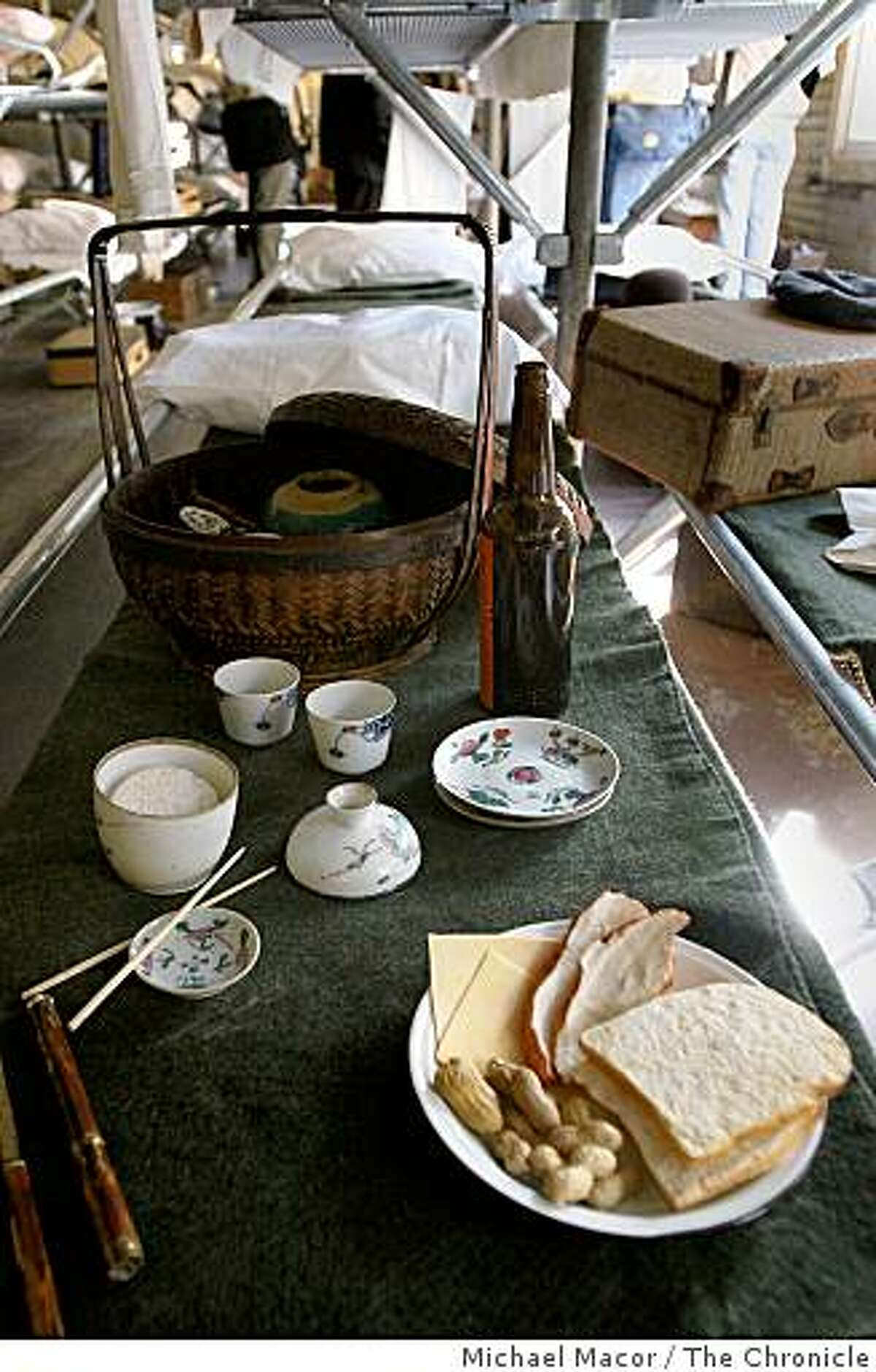 Details of the men's barracks have been recreated to reflect what life was like for Chinese immigrants who arrive at the Angel Island Immigration Center, in Tiburon, Calif. waiting for approval to come into America.