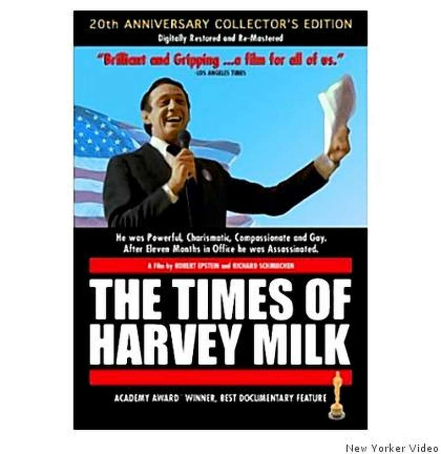 DVD cover: The Times of Harvey Milk Photo: New Yorker Video