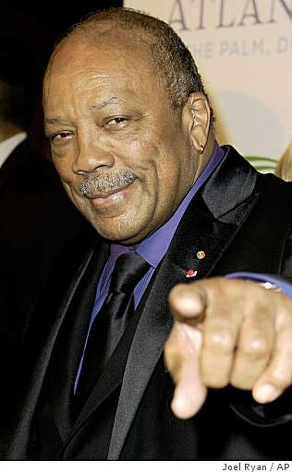 US music maker Quincy Jones arrives on the red carpet of the Atlantis, The Palm Hotel in Dubai launch party, which is the Middle East's biggest opening gala, Thursday, Nov. 20, 2008. Photo: Joel Ryan, AP