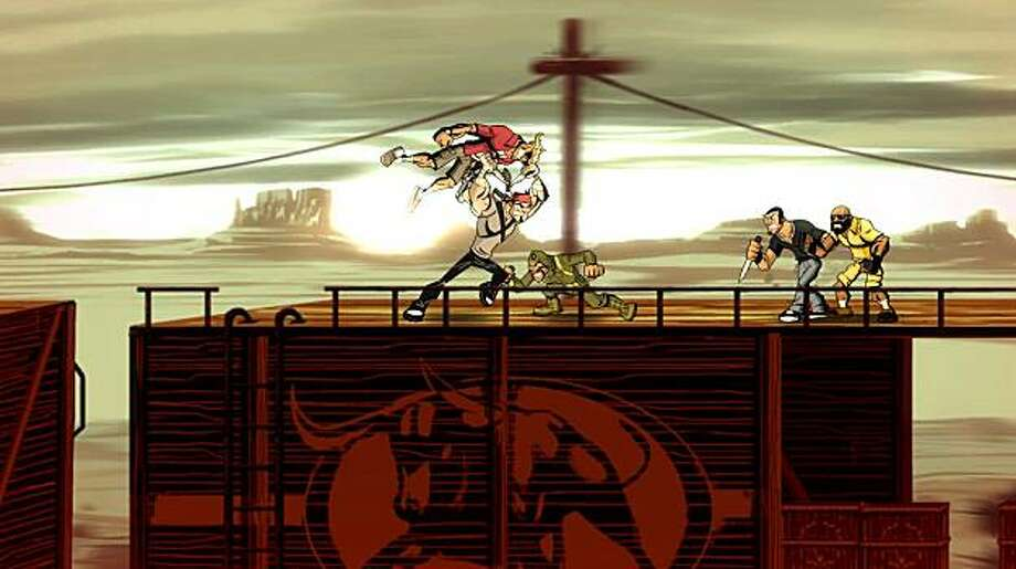 Shank is an ultra-violent game in the vein of old-school 2-D brawlers. Photo: Klei Entertainment