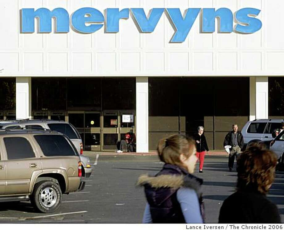 Mervyns, the 59-year-old department store chain headquartered in Hayward and catering to mid-tier customers, filed for bankruptcy protection Tuesday, the most recent retailer to be damaged in a brutal economy.MERVYNSXX_1041.JPGWhen Mervyns got bought out by a group of private investors in 2004, it closed a number of unprofitable stores. Today it's opening new ones and remolding it's older profitable locations like it's Pleasant Hill store at Sun Valley Mall. With 125 stores in Ca, Nv, Tx, Az and Utah stores are getting new touch screen registers, lighting, flooring and furniture and displays. NOVEMBER 30, 2006PLEASANT HILL.By Lance Iversen/San Francisco Chronicle Photo: Lance Iversen, The Chronicle 2006