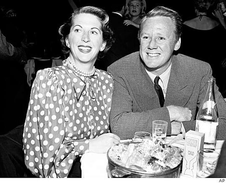 In this Nov. 17, 1948 photo, actor Van Johnson and his wife, Eve pose at the Mocambo in West Hollywood, Calif. Photo: AP