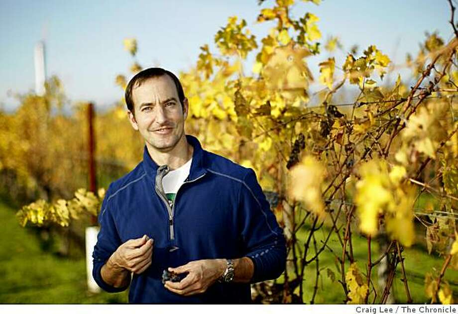 Jeff Ames, winemaker for the Tor Kenward label and his own wines under the Rudius label. Jeff Ames in the To Kalon vineyard in Oakville, Calif., on December 4, 2008. Photo: Craig Lee, The Chronicle
