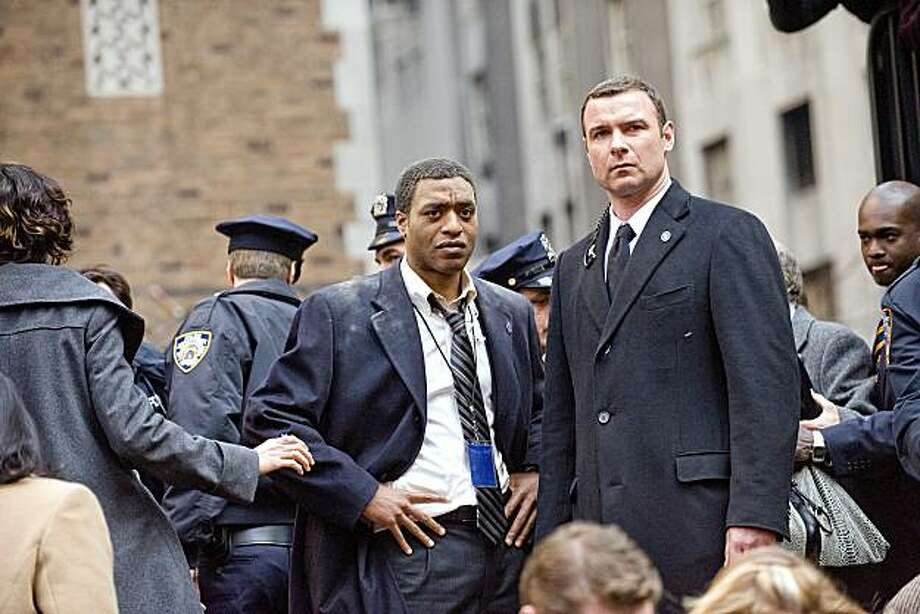 "Chiwetel Ejiofor as "" Agent Peabody"" and Liev Schreiber as ""Agent Ted Winter"" in Columbia Pictures' contemporary action thriller SALT. Photo: Andrew Schwartz, Columbia Pictures"