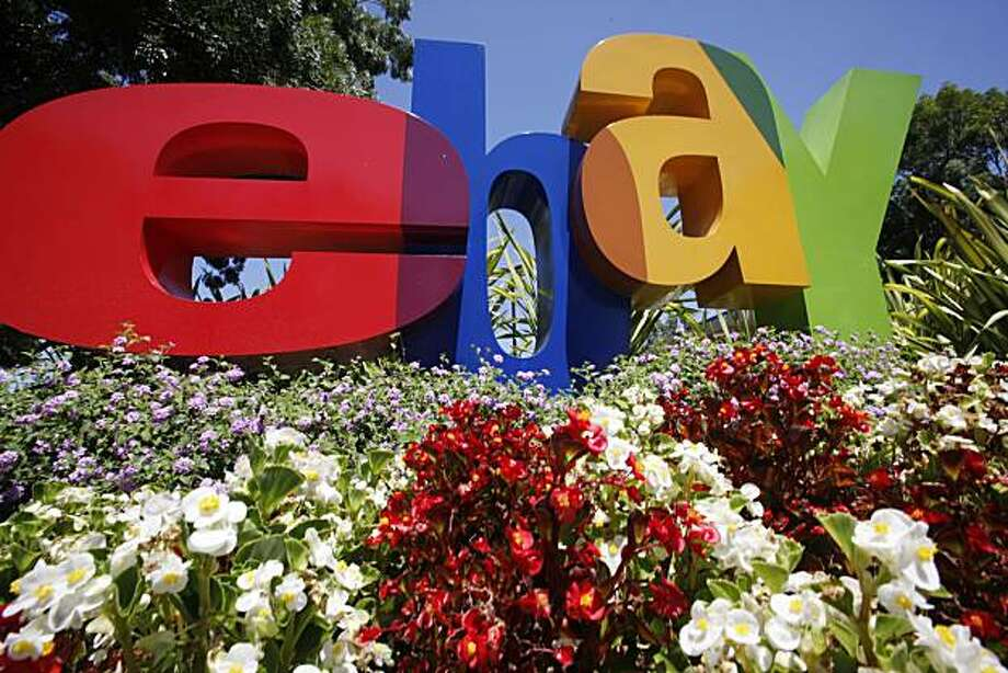The company logo is shown at eBay headquarters in San Jose, Calif., Tuesday, July 20, 2010. Ebay Inc. releases second-quarter earnings Wednesday, July 21, 2010, after the market close. Photo: Paul Sakuma, AP