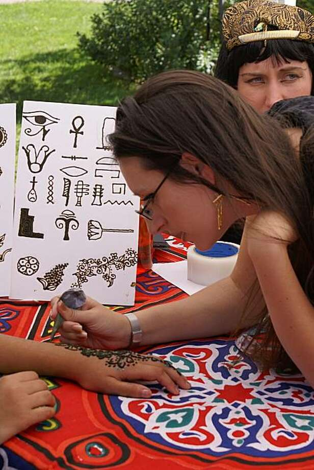Kids can get henna tattoos at this weekend's festivities. Photo: Rosicrucian Egyptian Museum
