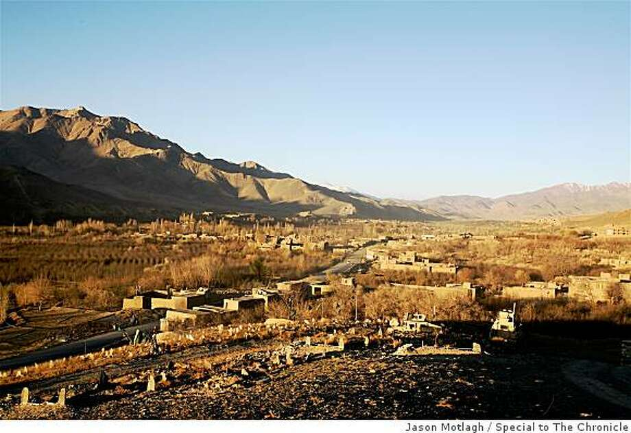 The Jalrez Valley, an insurgent stronghold in Wardak province, at dawn. Photo: Jason Motlagh, Special To The Chronicle