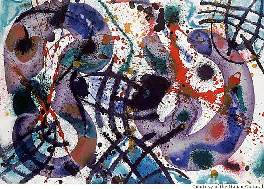 California artist Sam Francis (1923-1994) was among those who collaborated with the Rossis at 2RC to push the envelope of art-print possibilities. Photo: Courtesy Of The Italian Cultural