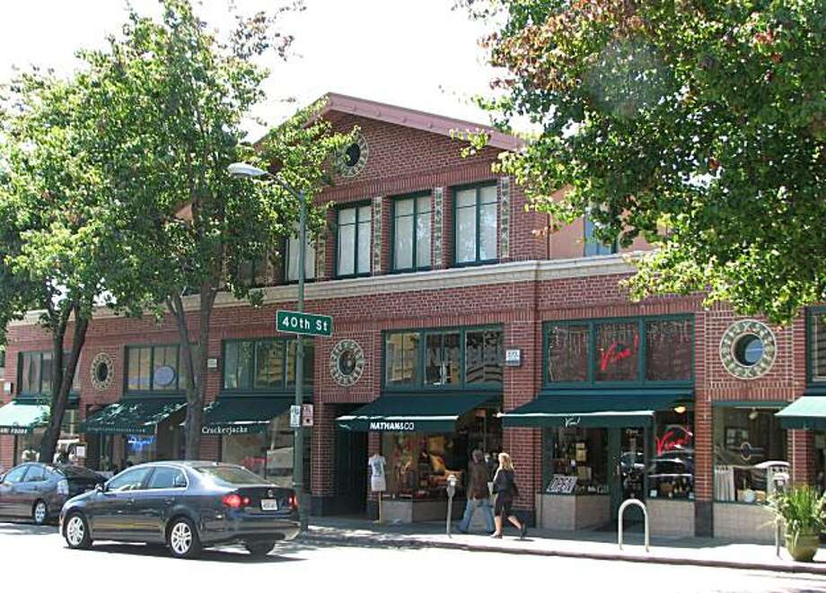 The retail block at 4001-4029 Piedmont Ave. in Oakland is by Julia Morgan -- a wonderful bit of modesty from a master Photo: John King, The Chronicle