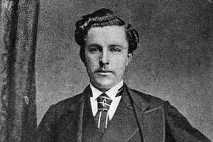 circa 1873:  Scottish golfer 'Young' Tom Morris (1851 - 1875) wearing the British Open belt which he won four times. 'Young' Tom and his father 'Old' Tom became the only father and son to hold successive Open titles when 'Old' Tom became the oldest player to win a title, aged 46 years and 99 days, in 1867 and 'Young' Tom won in 1868 to become the youngest Open Champion. 'Young' Tom began his playing career at an early age winning an exhibition match at Perth aged only 13, and winning his first professional tournament three years later.  (Photo by James Hardie/Hulton Archive/Getty Images)