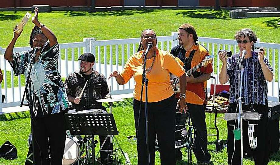 Chelle! And Friends that bring the sounds of a New Orleans Mardi Gras to the Children's Stage near Zeum on Sunday Photo: Yerba Buena Gardens Festival