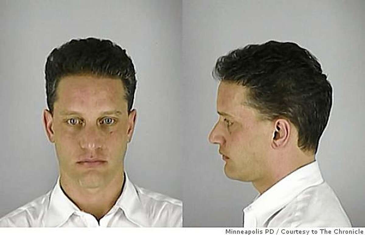 2004 Booking photo of John P. Rogers, CEO of Pay By Touch. Minneapolis police arrested Rogers was on suspicion of using cocaine in a car.