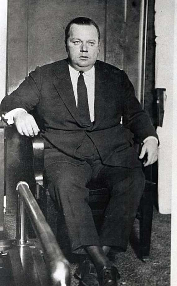 Fatty Arbuckle on the witness tand at one of his trials. Photo: Handout, Chronicle Archive