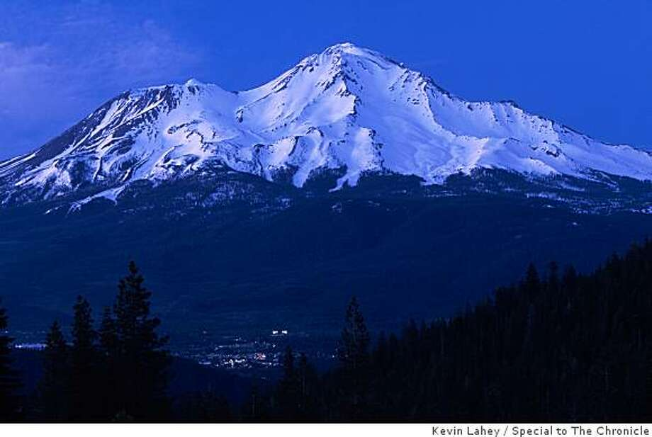Mount Shasta City crouches at the foot of the 14,179-foot peak. Photo: Kevin Lahey, Special To The Chronicle