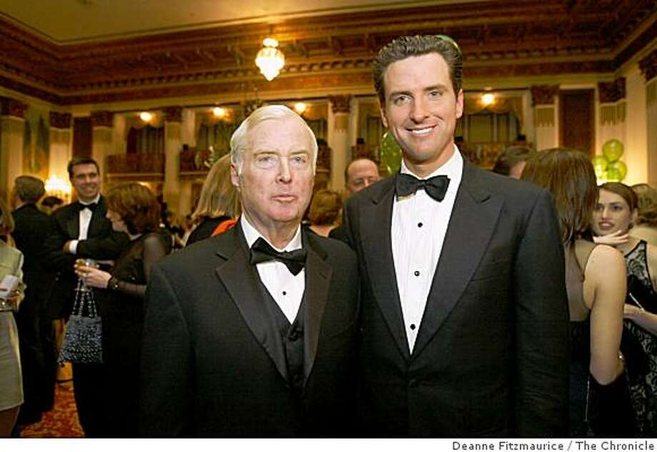 Judge William Newsom and his son Mayor Gavin Newsom were both honored at the 20th Anniversary of the American Ireland Fund. Mayor Gavin Newsom was honored at this dinner at the St. Francis Hotel.Deanne Fitzmaurice / The Chronicle Photo: Deanne Fitzmaurice, The Chronicle