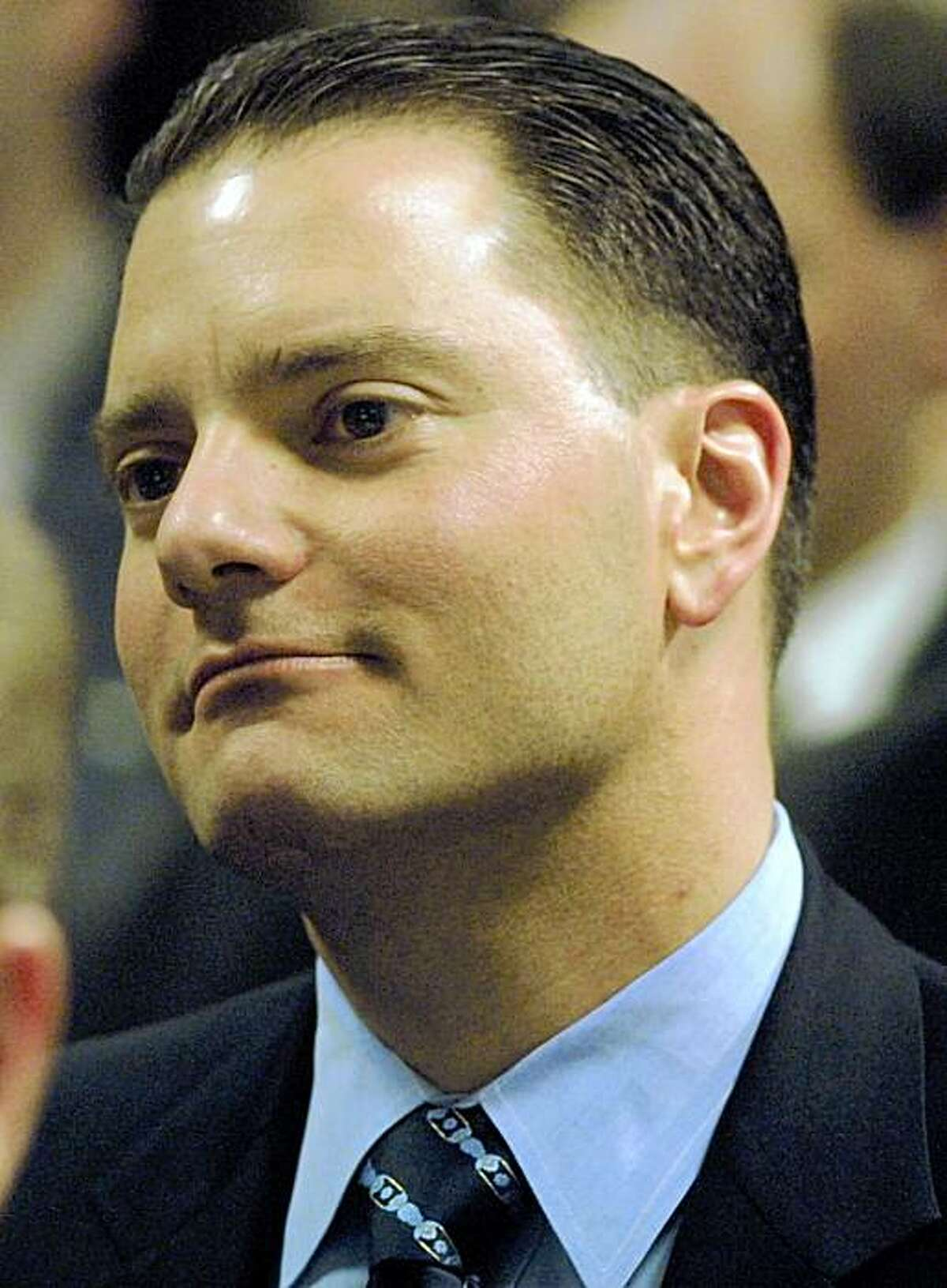 """**FILE** In this Feb. 26, 2002 file photo, William """"Boots"""" del Biaggio III is seen in San Jose, Calif. del Biaggio, a once-high-flying Silicon Valley financier and former co-owner of the NHL's Nashville Predators, was charged Thursday, Dec. 4, 2008, with fraud for allegedly bilking investors out of more than $100 million. (AP Photo/San Jose Mercury News, Rick E. Martin) ** MAGS OUT, NO SALES **"""