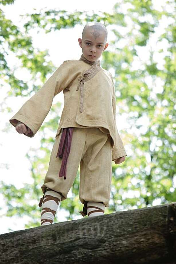 "Noah Ringer plays the heroic Aang in the Paramount Pictures/Nickelodeon Movies adventure, ""The Last Airbender.""  Photo credit: Zade Rosenthal Photo: Zade Rosenthal, Paramount Pictures"