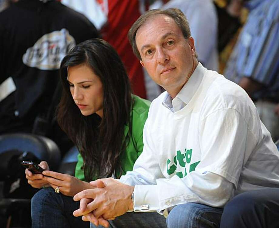 Joe Lacob watches the action courtside during the Celtics' 87-81 loss to the Lakers in Game 3. Photo: Michael Goulding, The Orange County Register