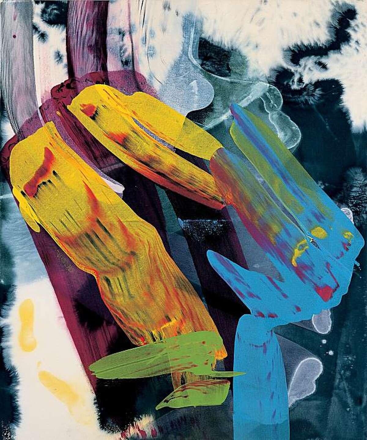 """""""Skywalk #4"""" (1999) acrylic on canvas by Ed Moses 72"""" x 60"""""""