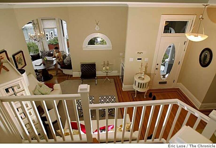 From upstairs looking into the main living room Sabrina Moyle at home in San Francisco photographed on Thursday, November 20, 2008. Photo: Eric Luse, The Chronicle