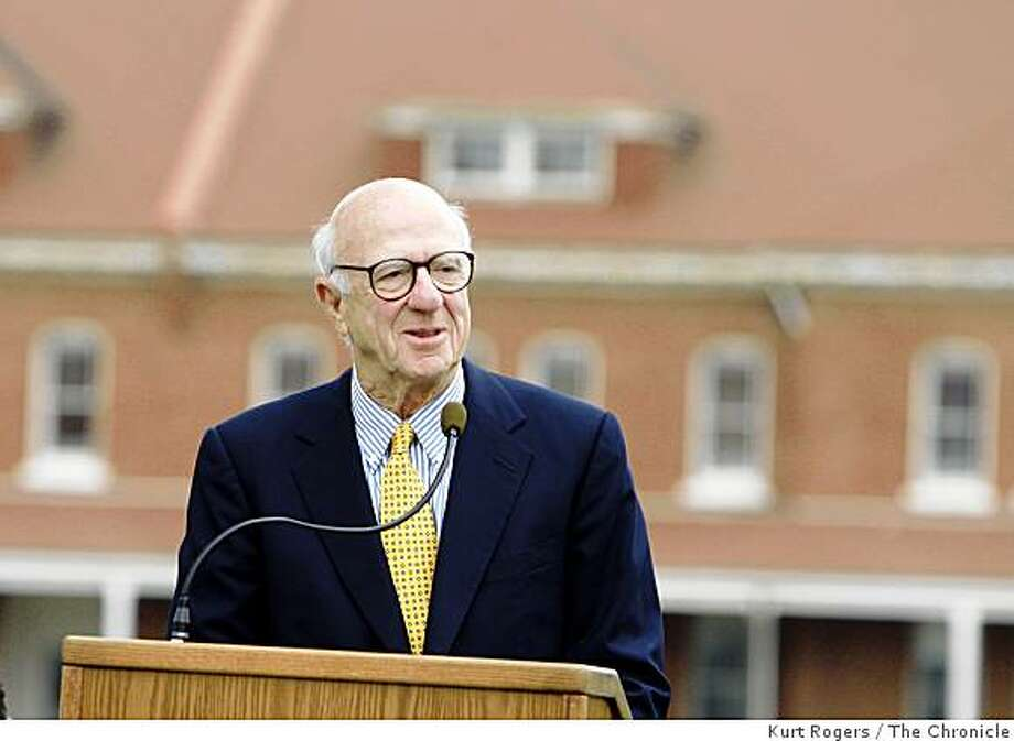 Gap founder Don Fisher during an Aug. 8, 2007 press conference to unveil his plan to build a new public art museum to hold his art. The new building will be in the Presidio. Photo: Kurt Rogers, The Chronicle