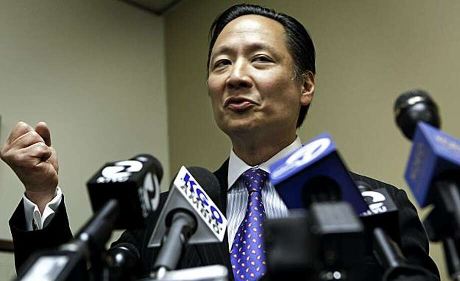 San Francisco Public Defender Jeff Adachi holds a news conference on Tuesday May 04, 2010, in San Francisco, Calif., to discuss reports that evidence of misconduct and prior convictions involving San Francisco police officers has been withheld from the defense. Photo: Michael Macor, The Chronicle
