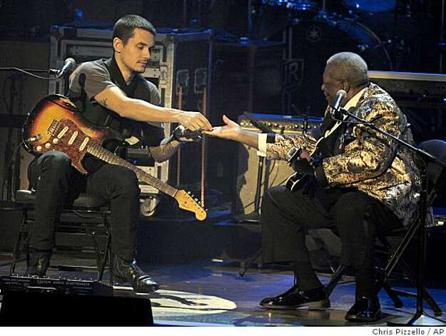 "John Mayer, left, performs with B.B. King at ""The Grammy Nominations Concert Live"" in Los Angeles on Wednesday Dec. 3, 2008. Photo: Chris Pizzello, AP"