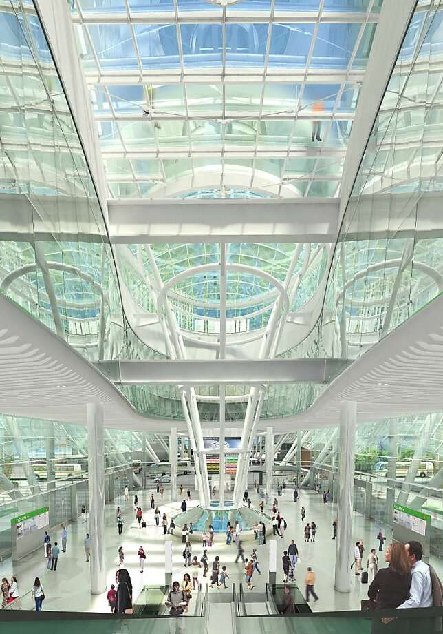 The Transbay Transit Center intended to replace the Transbay Terminal would include this central Grand Hall. CREDIT: Project Architect: Pelli Clarke Pelli. Renderings courtesy of the Transbay Joint Powers Authority. Photo: Courtesy, Transbay Joint Powers Authority