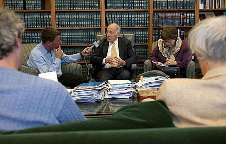 State Chief Justice Ron George announces his retirement and speaks to members of the media on Wednesday, July 14, 2010 in his office in San Francisco, Calif. Photo: Chad Ziemendorf, The Chronicle