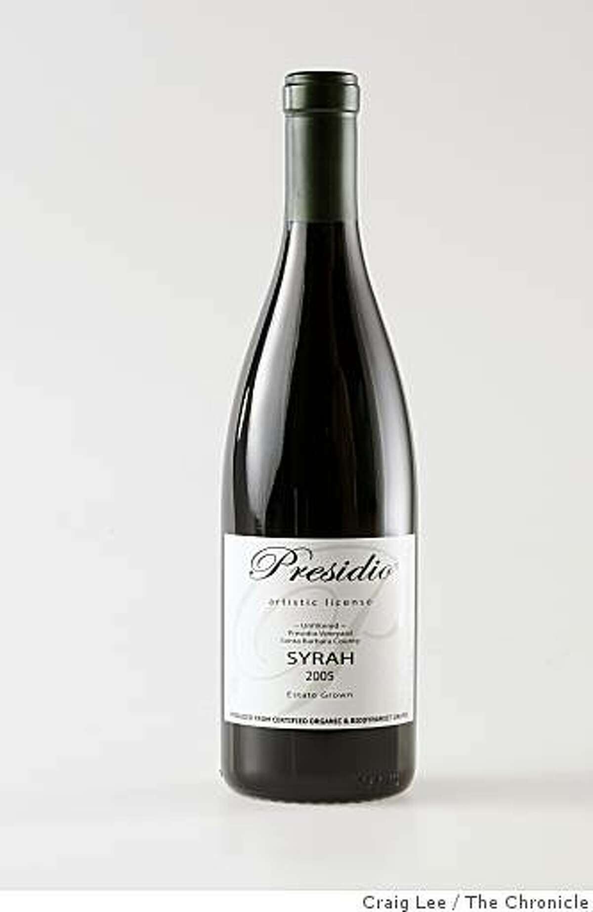 Presidio Syrah, one of the Top Ten wines out of the Top 100, in San Francisco, Calif., on November 13, 2008.