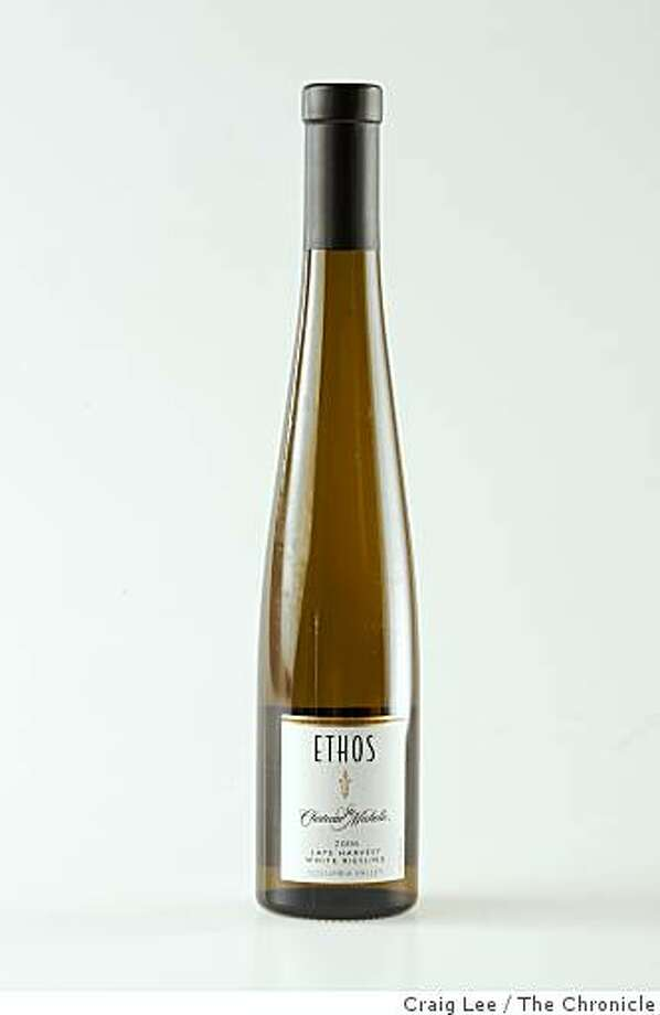 Ethos Ste Chateau Michelle White Riesling, one of the Top Ten wines out of the Top 100, in San Francisco, Calif., on November 13, 2008. Photo: Craig Lee, The Chronicle