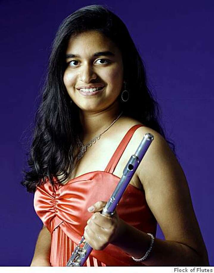 "Pavitra Rengarajan, 14,  will perform Francois Borne's ""Carmen Fantasy"" at the Flock of Flutes Holiday Concert Dec. 7, 2008, at Civic Arts Education's Shadelands Campus in Walnut Creek. She is the iwnner of the 2007 Young Artist Competition. Photo: Flock Of Flutes"