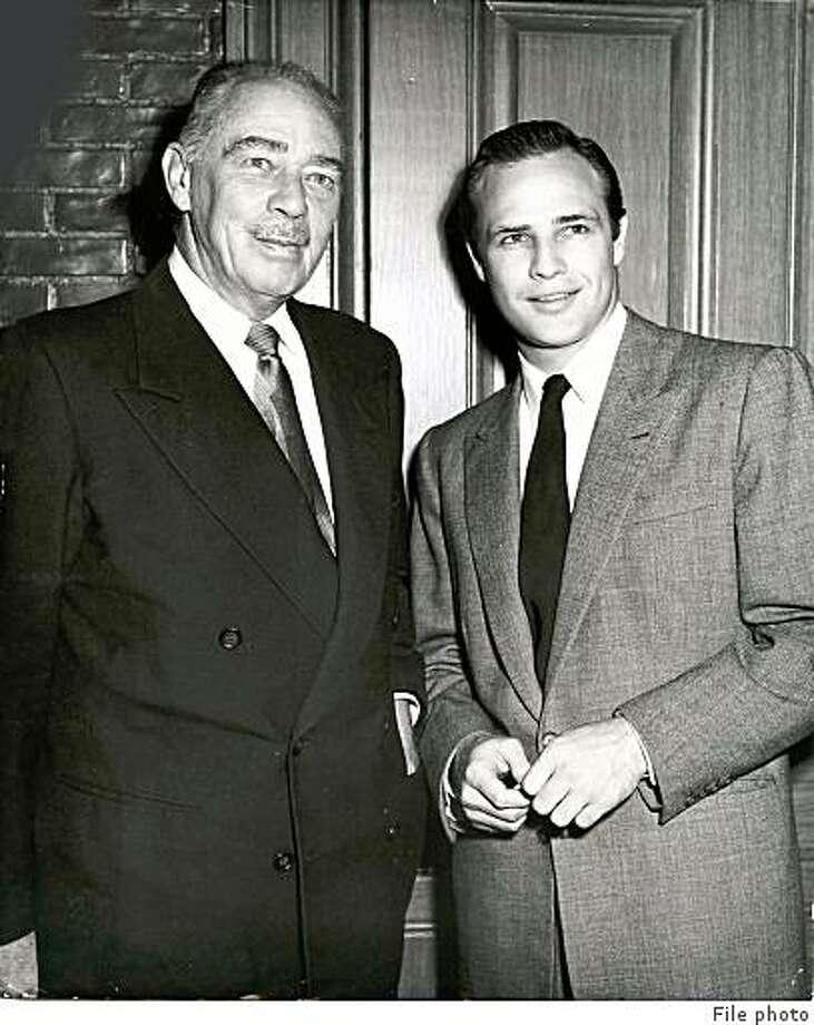 Marlon Brando Sr, and Marlon Brando Jr. circa 1955. / File photo Photo: File Photo