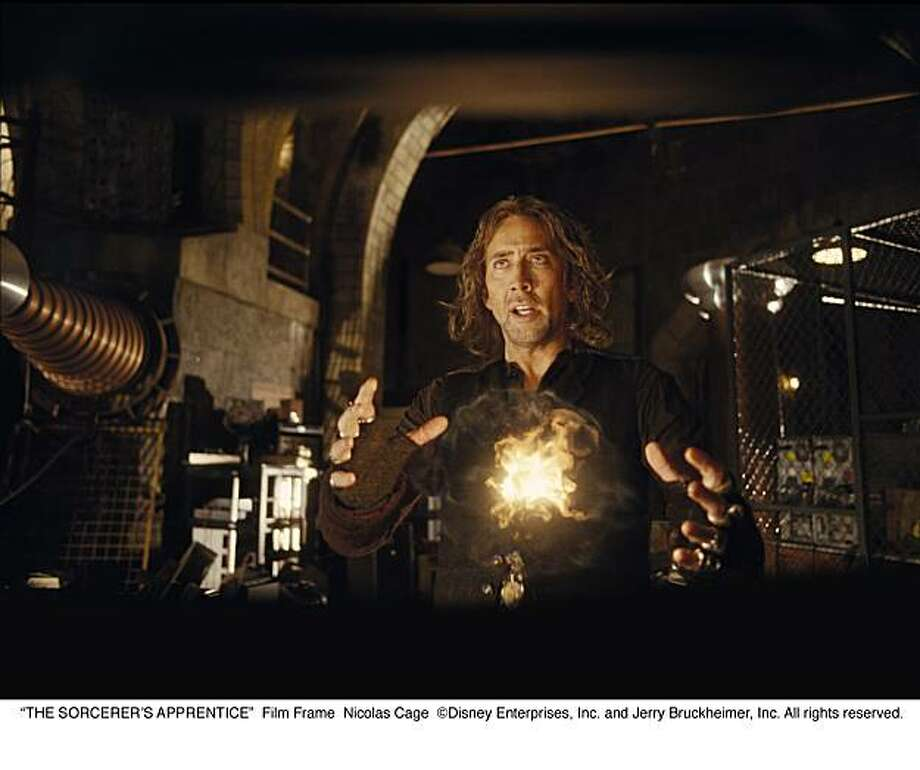 """THE SORCERER'S APPRENTICE""  Nicolas Cage Photo: Disney Enterprises, Inc."