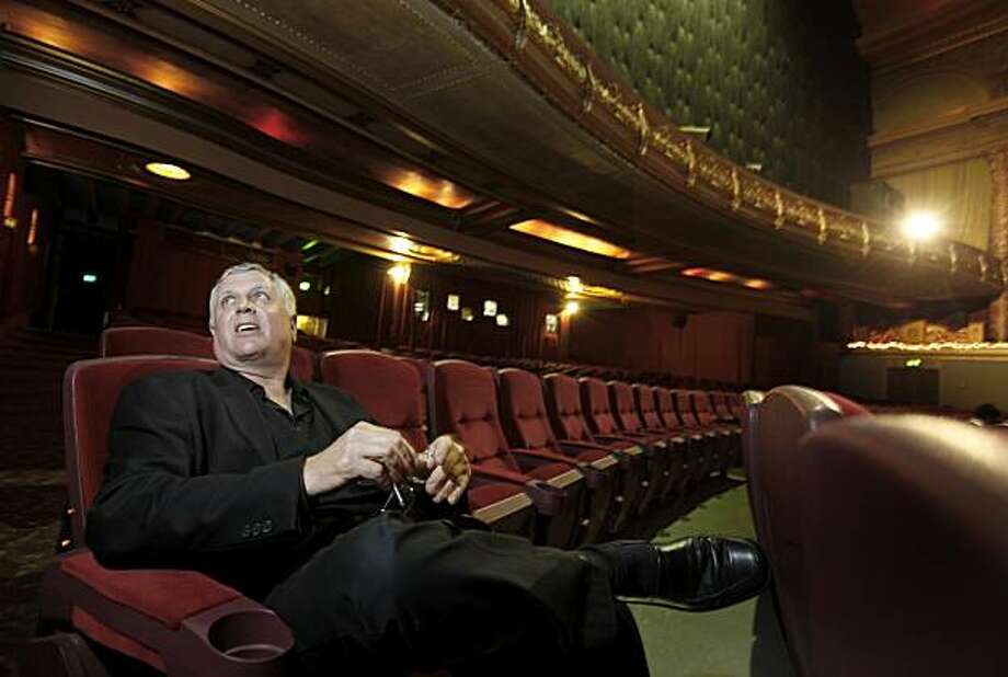 Grand Lake theater owner Alen Michaan sits in his renovated main theater and talks about the future of film Thursday July 1, 2010. The Grand Lake theater in Oakland, Calif. is the last theatre run by Allen Michaan, who used to have more than a dozen theatres in the Bay Area. Photo: Brant Ward, The Chronicle