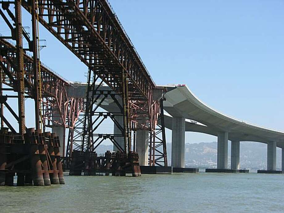 The bridge that exists so that a more iconic one can be built. Strange world indeed. Photo: John King, The Chronicle