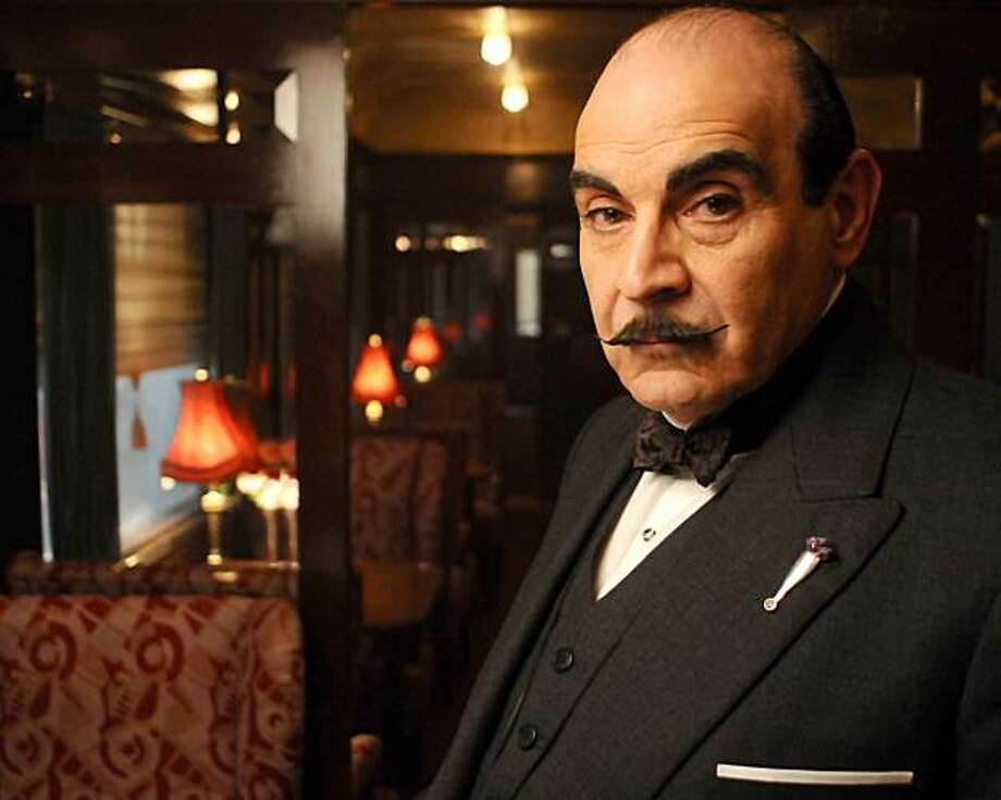 Hercule Poirot solves the greatest case of his career aboard the worldÕs most glamorous train, the Orient Express. Star David Suchet (pictured) is joined by a first-class rail car full of great actors, including Dame Eileen Atkins, Barbara Hershey and Hugh Bonneville. Photo: ITV For Masterpiece