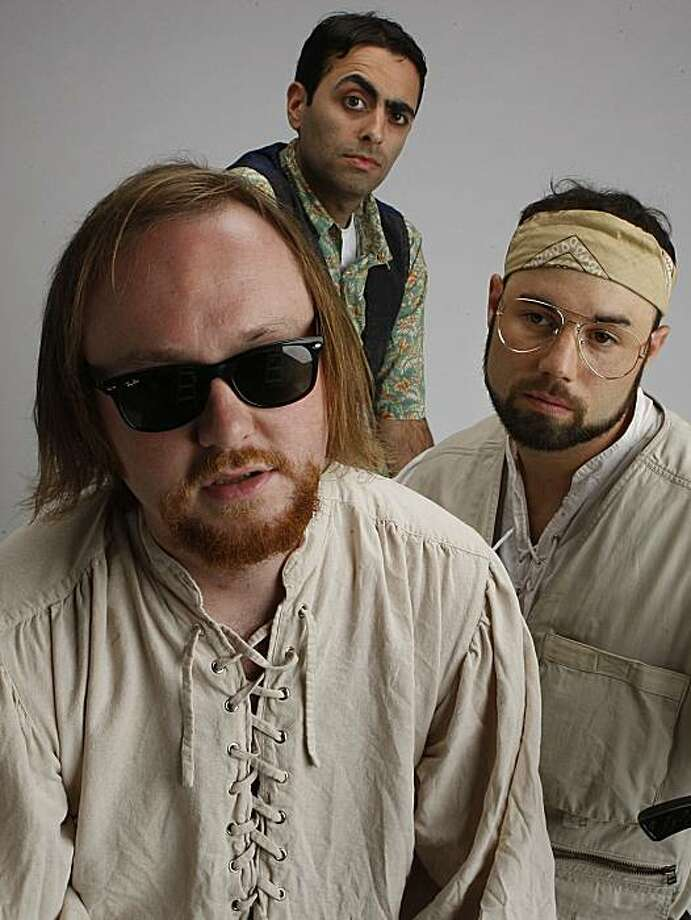 "Actors clockwise from front--Pete Lynch plays The Knave, Omied Far plays Sir Daniel, and Steve Bologna plays Sir William in ""Much Ado About Lebrowski""  in San Francisco, Calif., on Friday, July 2, 2010. Photo: Liz Hafalia, The Chronicle"