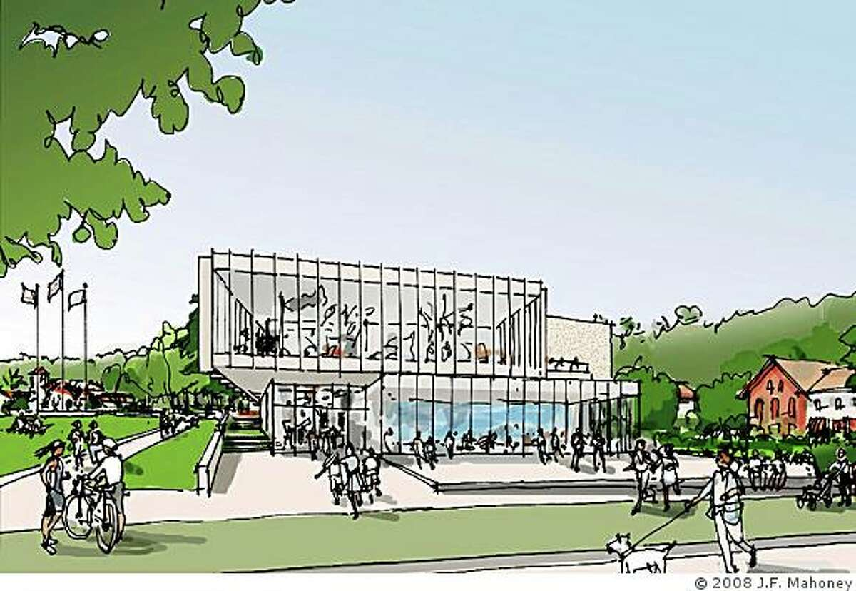 A watercolor of the formerly proposed Contemporary Art Museum at the Presidio. The museum is going to be redesigned.
