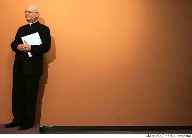 Bishop George H. Niederauer of Salt Lake City, who will serve as the next(and eighth) Archbishop of San Francisco, listens while being introduced at St. Mary's Cathedral in its conference center.  Event on 12/15/05 in San Francisco  Photo: Mark Costantini /San Francisco Chronicle. Photo: MARK COSTANTINI