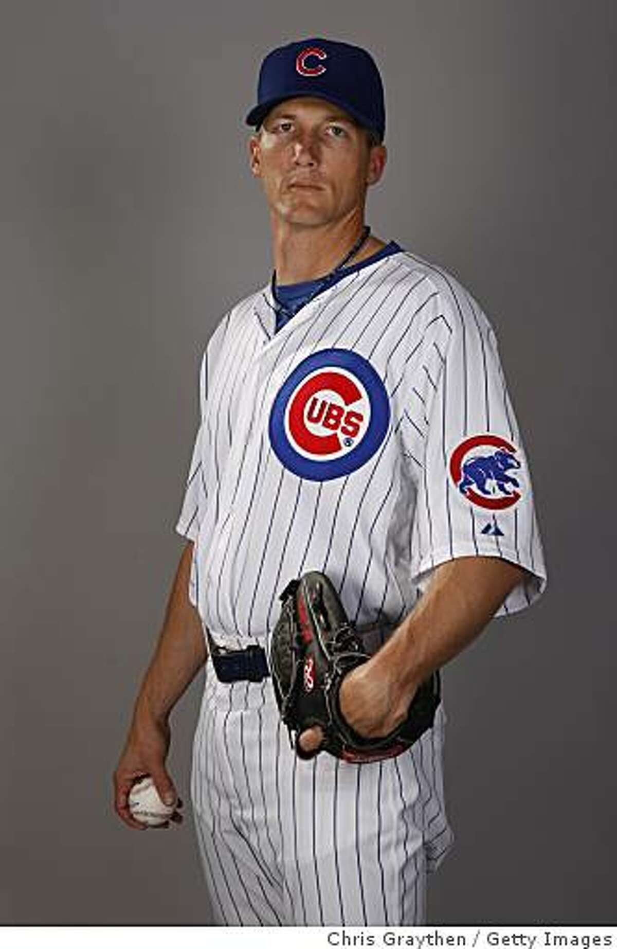MESA, AZ - FEBRUARY 25: Bob Howry #62 of the Chicago Cubs poses for a photo during Spring Training Photo Day on February 25, 2008 in Mesa, Arizona. (Photo by Chris Graythen/Getty Images)