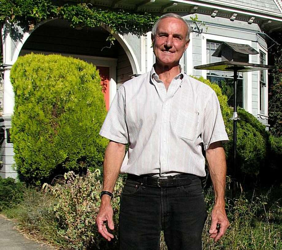 Don Link is a longtime community policing activist in Oakland. He is photographed here in front of his North Oakland home. I took this photo for a three questions column to be run on July 4. Photo: Matthai Kuruvila