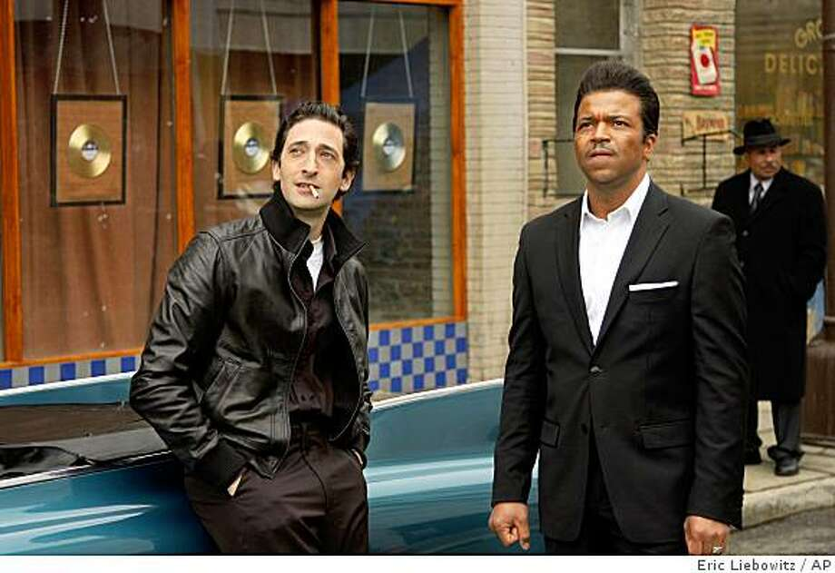 """In this image released by Sony TriStar Pictures, Adrien Brody portrays Leonard Chess, left and Jeffrey Wright portrays Muddy Waters in a scene from, """"Cadillac Records."""" (AP Photo/Sony TriStar, Eric Liebowitz) ** NO SALES ** Photo: Eric Liebowitz, AP"""