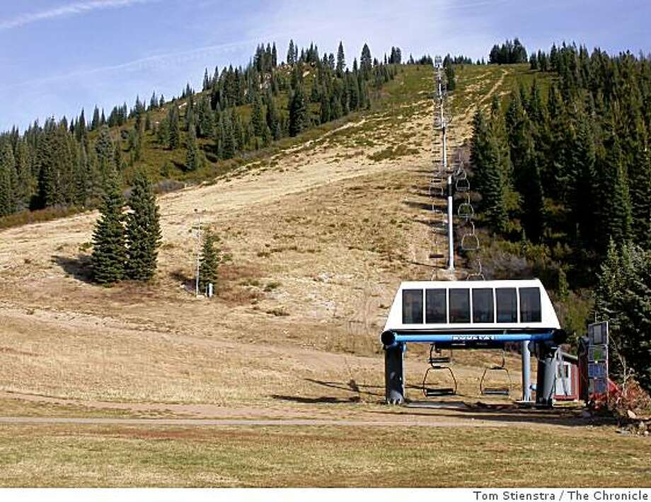 The snowless Douglas Lift and run at the Mount Shasta ski area on Dec. 1. ... Pretty late in the year for the mountain to be naked. Photo: Tom Stienstra, The Chronicle