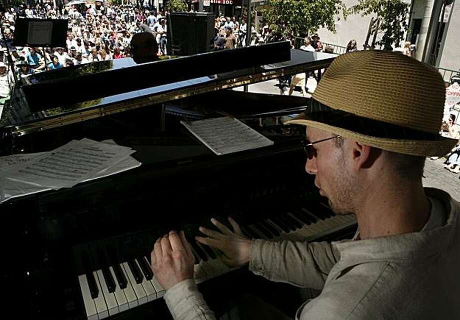 Pianist Grant Levin plays the piano as part of the Dave Rocha Quintet  during the Fillmore Jazz Festival on Saturday, July 3, 2010 in San Francisco, Calif. Photo: John Sebastian Russo, The Chronicle