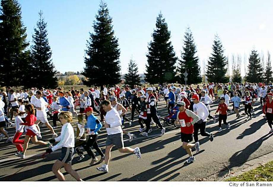 The Bah Humbug race at Bishop Ranch Business Park in San Ramon is flat, fast and USATF-certified Photo: City Of San Ramon