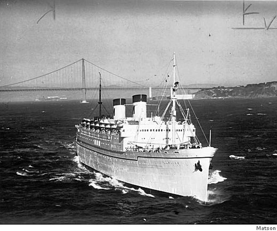 Duncan O'Brien has compiled a history of the ?white ships? ? the Malolo, Mariposa, Monterey, Lurline and Matsonia ? from 1927 to 1978. Photo: Matson